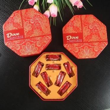 婚庆德芙巧克力6颗12颗16颗结婚喜糖成品盒装马口铁盒糖果盒子