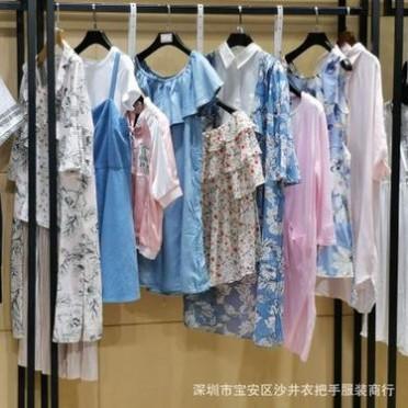 拉夏贝尔旗下品牌puella普埃拉女装19夏装品牌女装折扣尾货货源