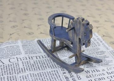 旧木良品 拍摄小道具实木雕刻小摇马木马创意家居摆件木质工艺品