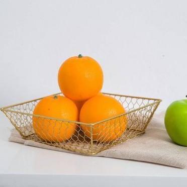旧木良品 zakka杂货 铁艺水果杂物收纳篮 实用家居生活用品特价