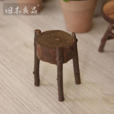 旧木良品 zakka杂货手工创意小凳子摆件拍照小道具木质工艺品礼品
