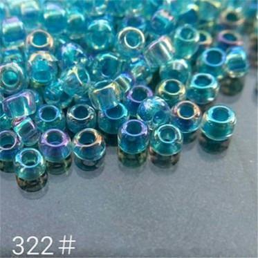 米珠MGB米珠 2MM透明染心彩 手工DIY散珠串珠 珠子多样色
