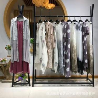 深圳设计师品牌【默然】2019韩版女装 夏 时髦的连衣裙 真丝 丝麻