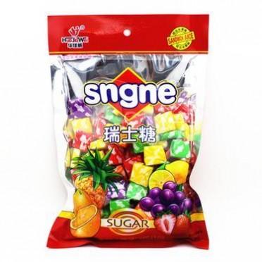 华佳威SQgQS瑞士糖 400g/包 混合水果口味 软糖奶糖儿童结婚喜糖