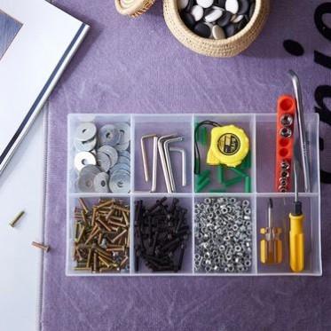 厂家直销 塑料零件盒电子元件盒透明塑料分隔盒 工具盒