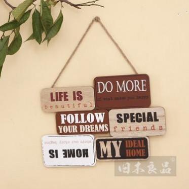 旧木良品 zakka杂货原创设计精品工业风组合挂牌创意家居用品挂饰