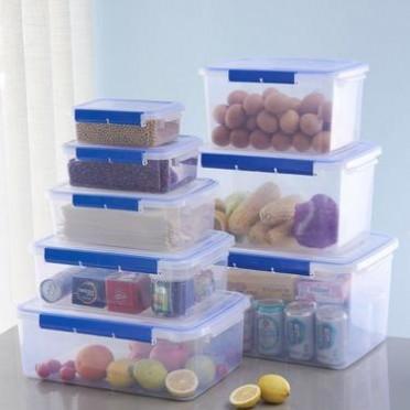 批发 食品级饭店酒店保鲜盒塑料冰箱微波炉储物盒 密封盒