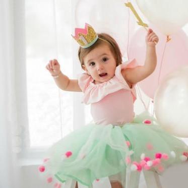 订制儿童生日皇冠 公主1岁生日礼物 派对节日狂欢皇冠头饰